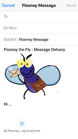 Flooney The Fly: Flooney-Mail