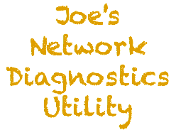 Joe's Network Diagnostics Utility
